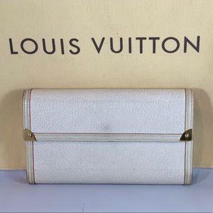 LOUIS VUITTON Leather Suhali Tresor Long Wallet